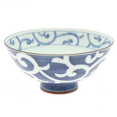 Blue & White Rice Bowl - Arabesque