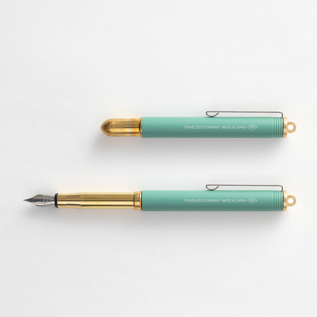 Limited Edition | Traveler's Brass Fountain Pen | Factory Green