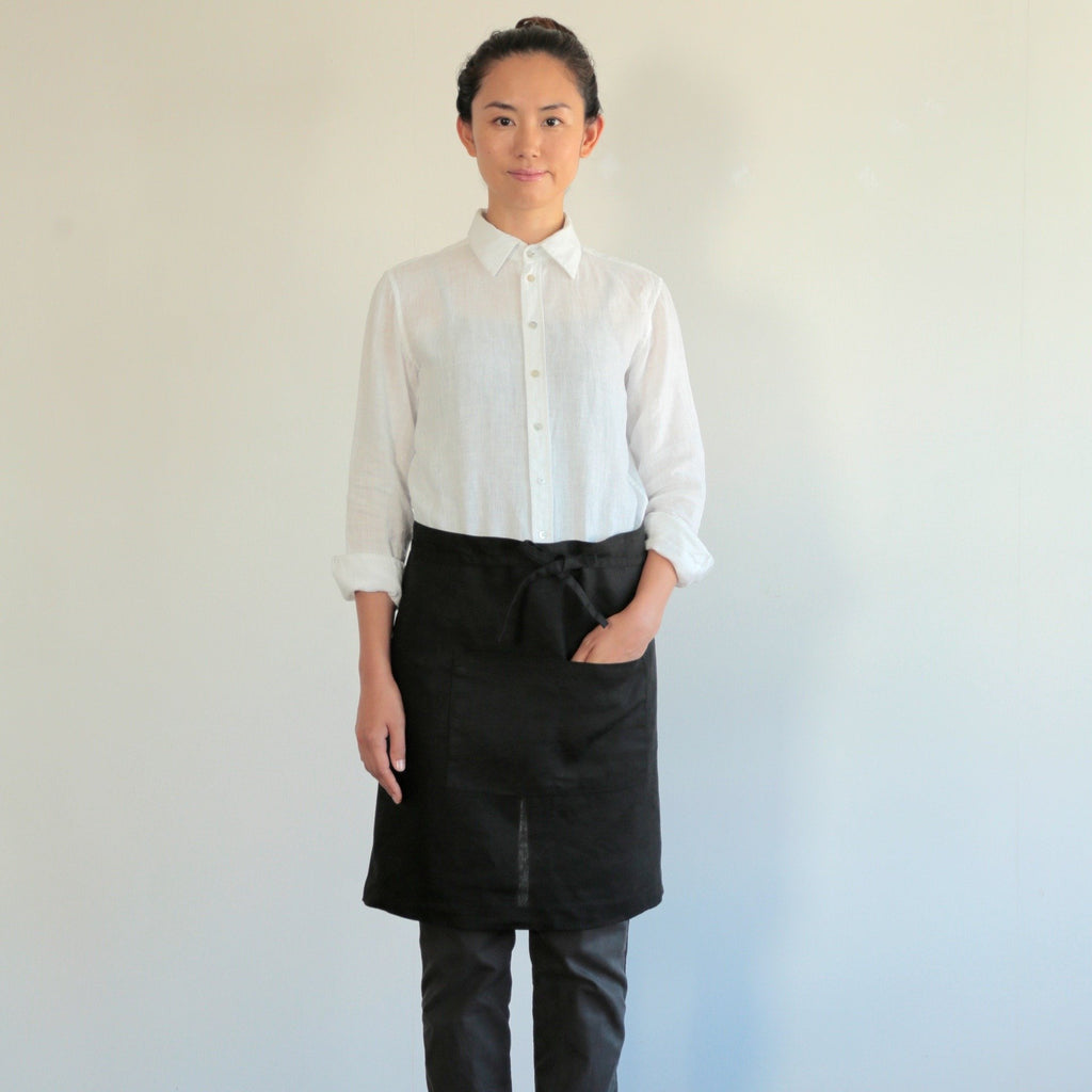 Midi Apron by Fog Linen - Black or Natural