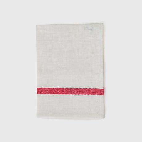 Single Stripe Red & White Kitchen Cloth