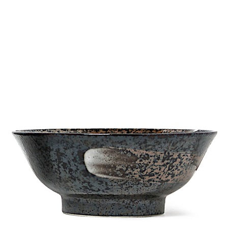 Black Bowl with Swirl - 8.25""