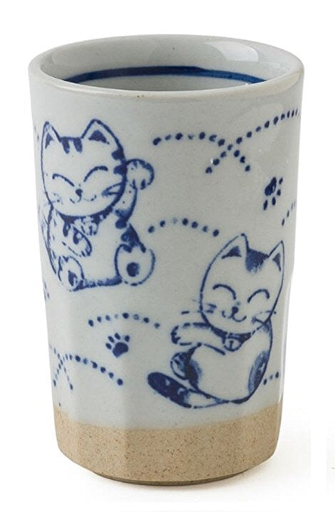 Lucky Cat Tea Cup - 9 oz