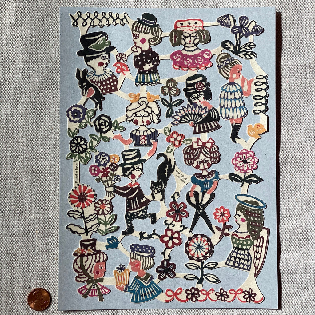 Stickers by Mihoko Seki | Large | Water Activated