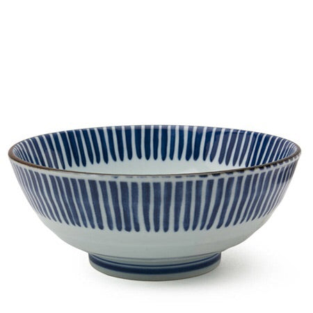 Tokusa Ito Blue & White Bowl | 8""