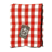"MDV Gingham Tablecloth Black, Red, or Rose - 94.5"" x 57"""