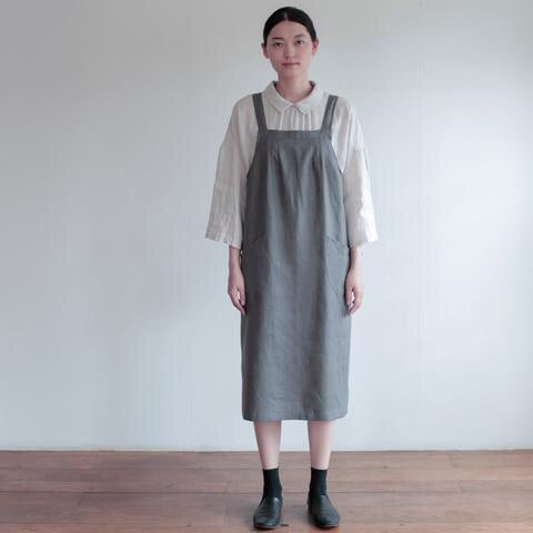 Salon Apron - Albatre/Gray by Fog Linen