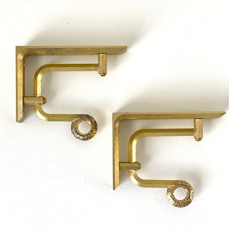 Brass Shelf Bracket - Paper Holder