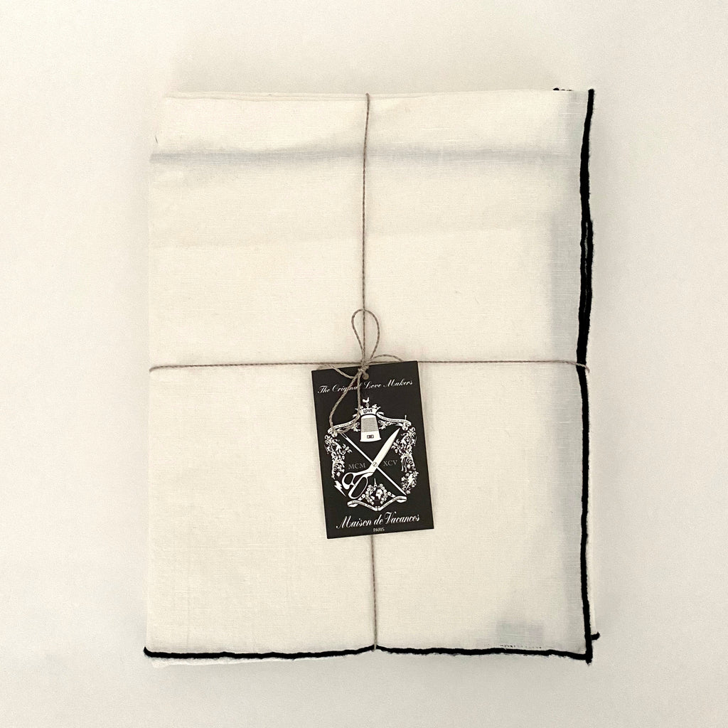 "MDV Square Black Border Tablecloth - 67"" x 67"""