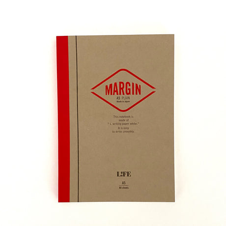 MARGIN Notebook Red| A5 | Plain