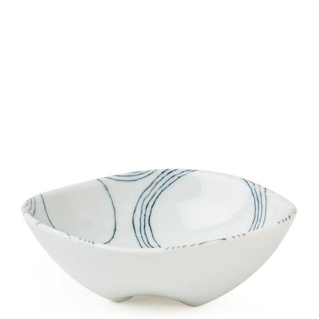 Circular Lined Footed Bowl (M)| 5""