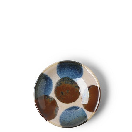 Rustic Blue & Brown Small Plate