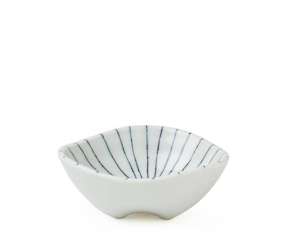 Off Center Line Footed Bowl |  3.75""