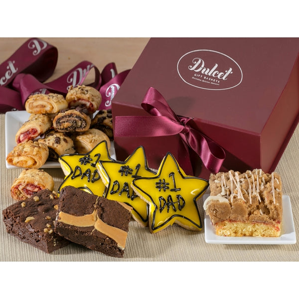 #1 Dad Star Cookies Gift Basket