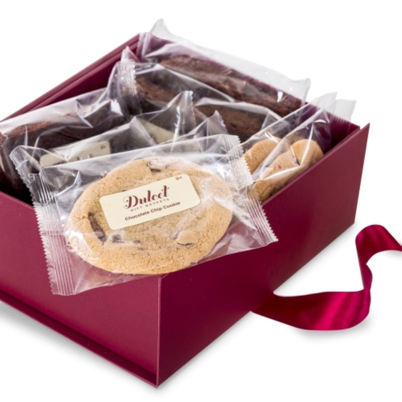 Chocolate Chip and Peanut Butter Cookie Gift Box