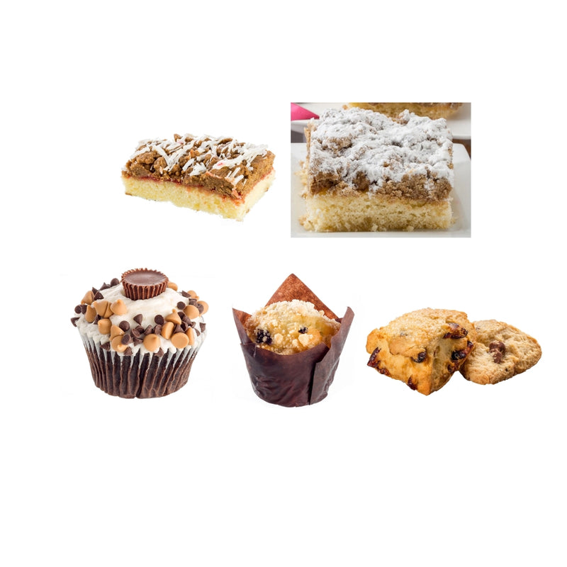 Dulcet's Sweet Treat Gift Gourmet-Includes Rees's Cupcake, Raspberry Crumb Ca...