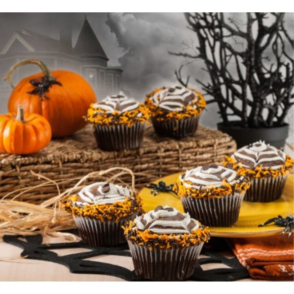 Halloween Chocolate Spider Cupcakes