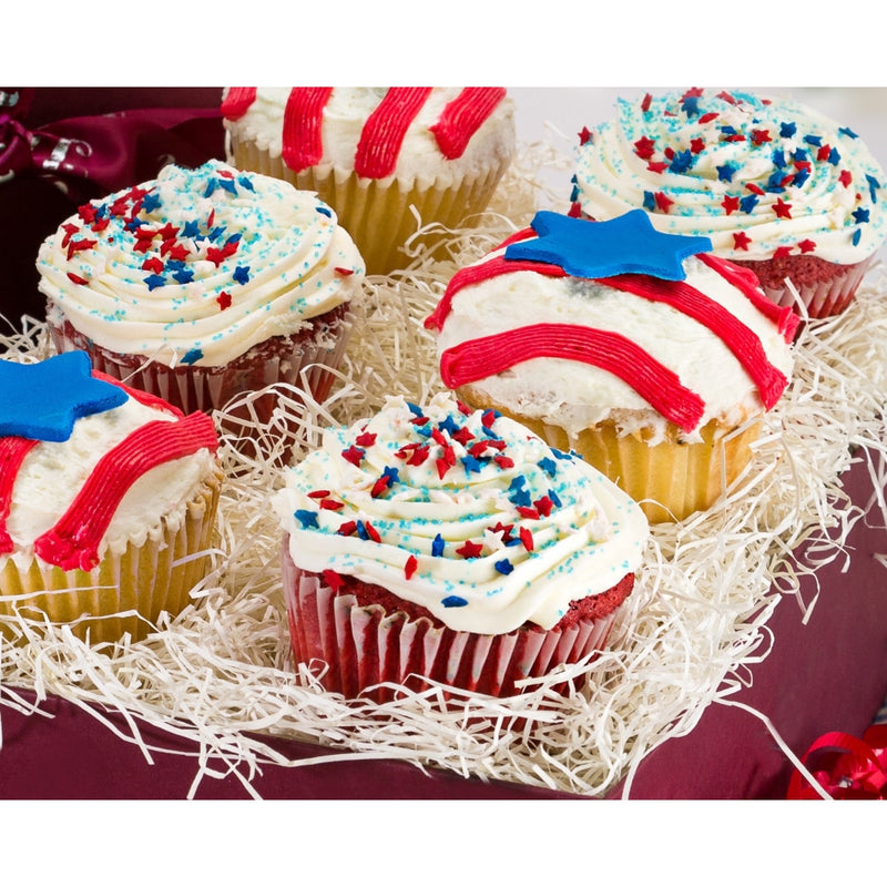Independence Day Red, White, and Blue Cupcakes