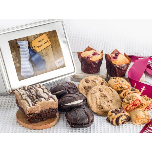 Fathers Day Muffin and Cookie Gift Tin
