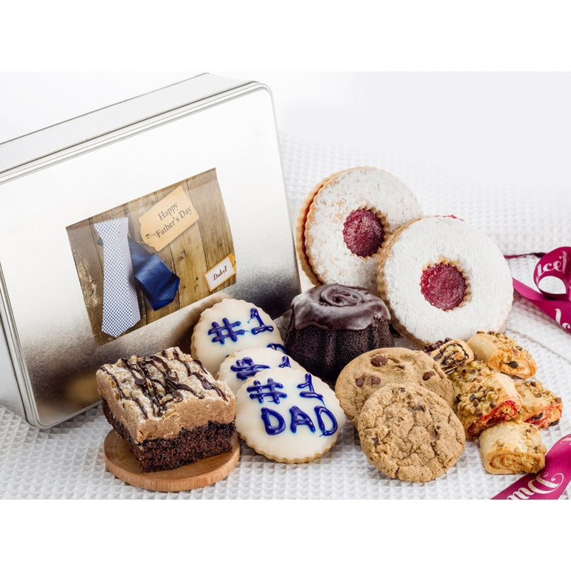 Happy Fathers Day Favorites Dessert Gift Tin