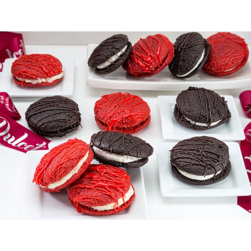 Chocolate and Red Velvet Whoopie Pies
