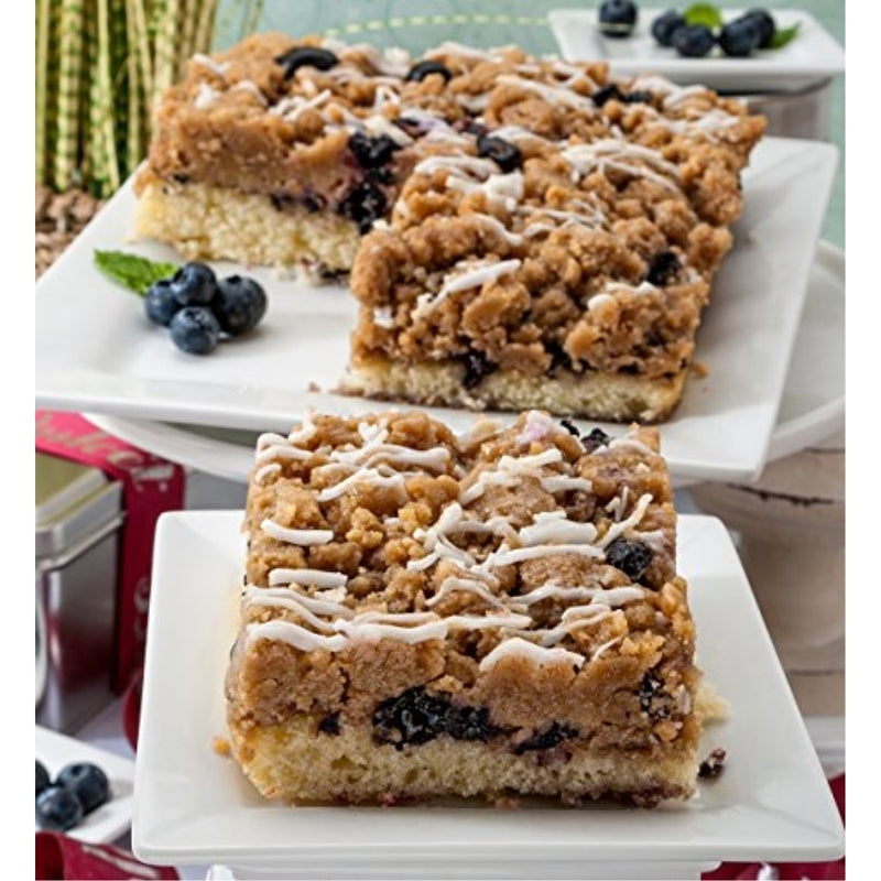Blueberry Dessert Crumb Cake Gift Box. 2 Trays