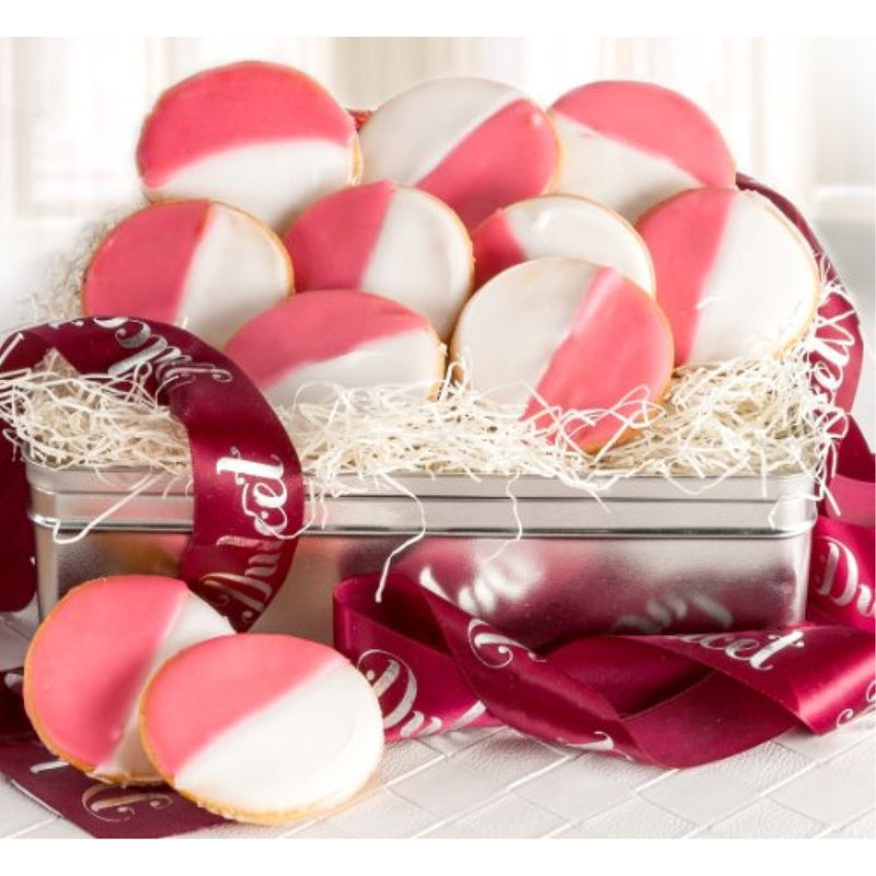 Pink and White Cookie Tin