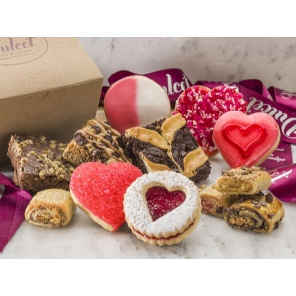 Valentine's Day Holiday Pastry Gift Basket