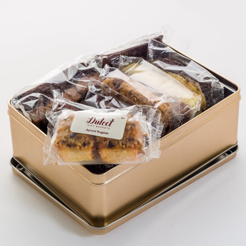 Dulcet Get Well Soon Gift Basket – Lovely Cookie and Chocolate Brownie Tin Loaded with a Fine Variety of Pastries to Convey Get Well Wishes & Boost Spirits!