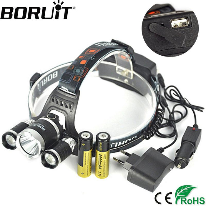BORUIT XML-T6 LED Headlamp - EmartPal