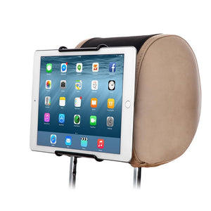 EmartPal Universal Car Headrest Mount Holder with Angle- Adjustable Holding Clamp for Tablets