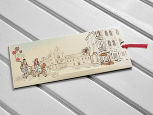 3D bicycle wedding invitations