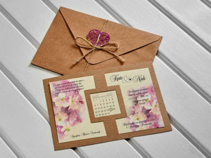 botanical kraft wedding invitations
