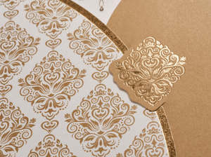 gold sikh wedding cards