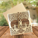 luxury laser cut tree wedding invitations -  weddingcardsuk.com