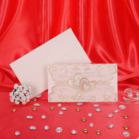cream and gold wedding invitation cards