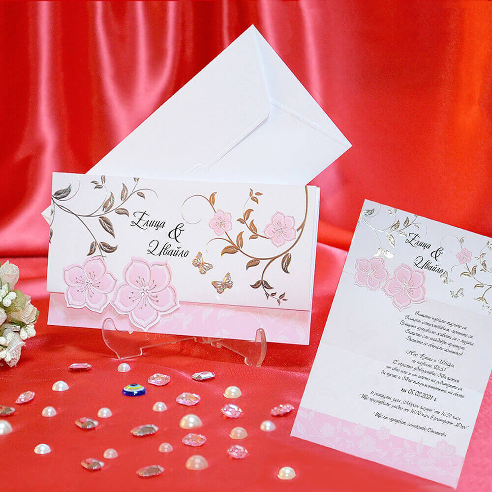Trifold Floral Wedding Invitation