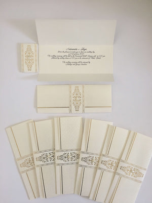 ivory and gold wedding cards