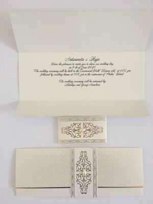 ivory and gold wedding invitations uk