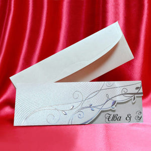 embossed flower wedding invitations