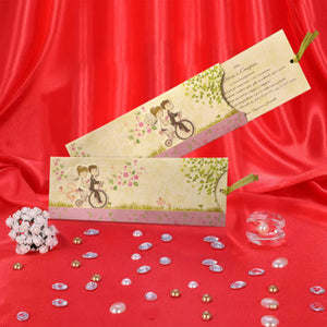 Bicycle Themed 3D Wedding Invitation