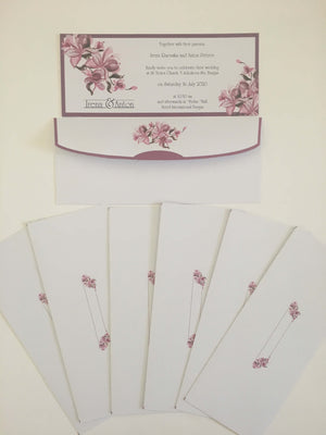 lilac wedding invitation card