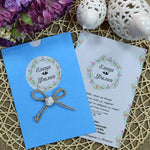 light blue wedding invitations sample - weddingcardsuk.com
