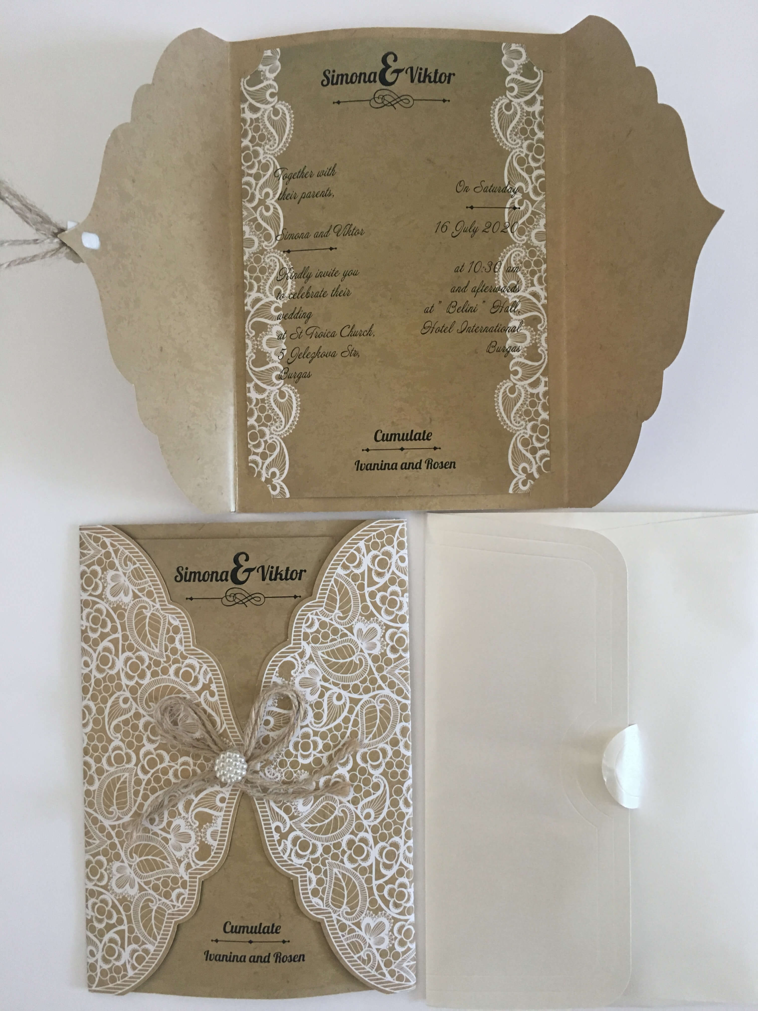 vintage wedding invitation  - weddingcardsuk.com