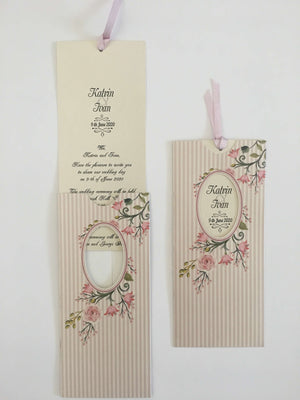 vintage flower wedding cards