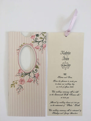 vintage flower wedding invitations uk
