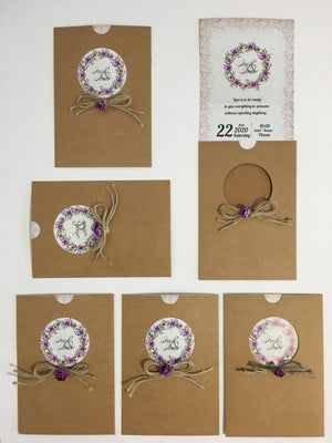 Lilac Floral Wedding Cards