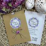 Lilac Flower Wedding Invitations