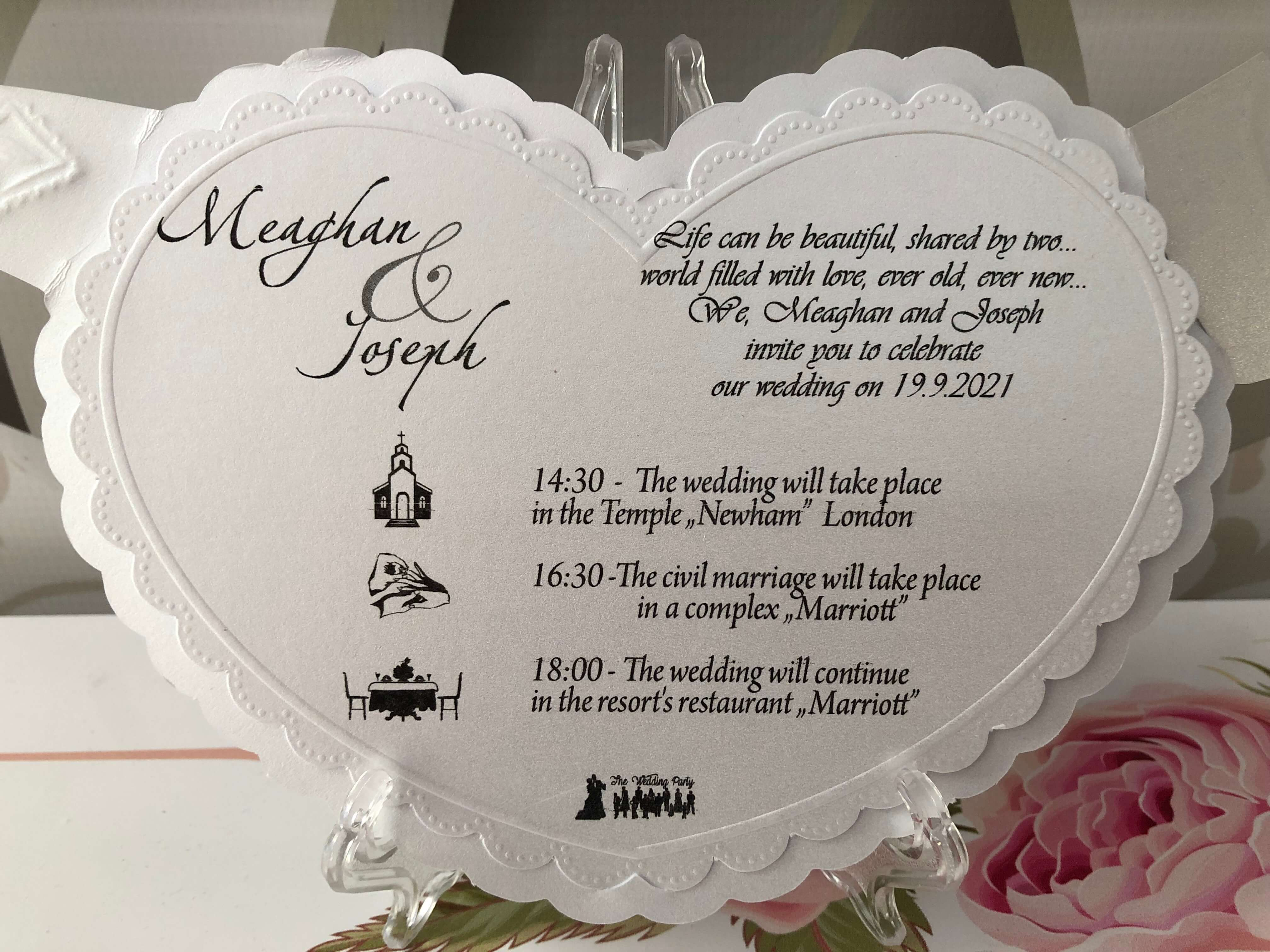 3D Wedding Invitations - weddingcardsuk.com
