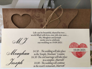Rustic  Heart Wedding Invitations - weddingcardsuk.com