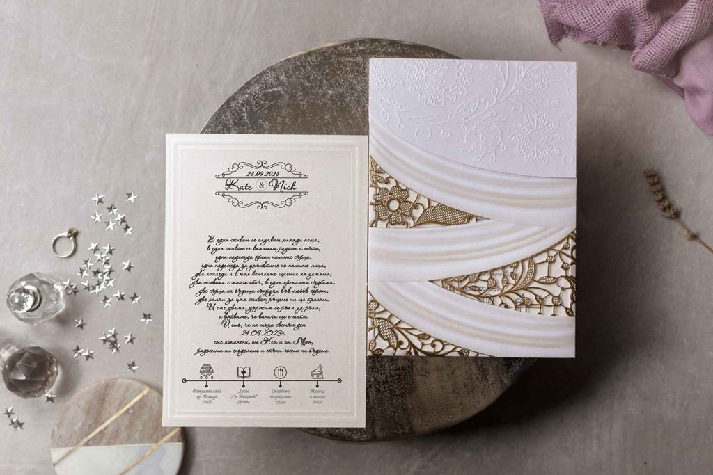 elegant floral wedding invitations